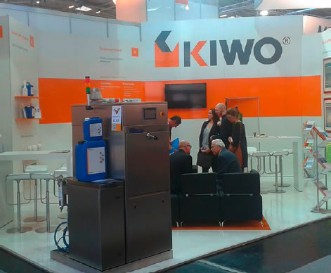 KIWO Messestand auf der productronica 2015